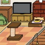 金にぼし180個でにわさき(?)拡張してみた-「ねこあつめ」3猫目
